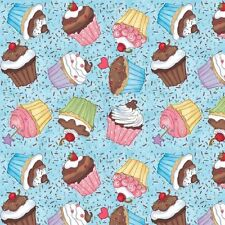 Fat Quarter Sweet Shoppe Cupcakes Quilting Cotton Fabric - Studio E
