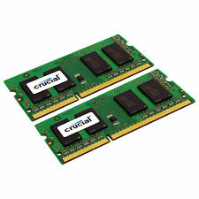 Crucial 4GB Kit 2 x 2GB DDR3 1333 MHz PC3-10600 1.35V Laptop RAM Sodimm Memory