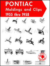 Pontiac Chrome Trim Molding Parts Catalog 1955-1958 Moulding Illustrated Book