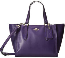 NWT Coach 33537 Violet Smooth Leather Mini Crosby Carryall