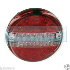 12V/24V LED CLEAR SLIM REAR ROUND HAMBURGER TAIL LAMP LIGHT STOP/TAIL/INDICATOR