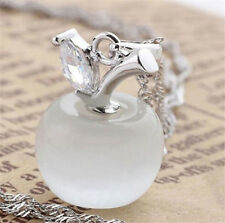 Charming Opal Apple Style Cat Eye Stone Silver Plated Pendant Jewelry♫