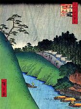 ART PRINT POSTER PAINTING JAPANESE WOODBLOCK RIVER MOUNTAIN NOFL0785