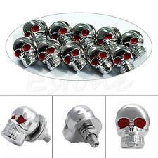 10pcs Skull Head Motorcycle Windshield License Plate Frame Screws Bolts DIY