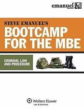 Bootcamp for the Mbe - Criminal Law and Procedure by Steven Emanuel (2010,...