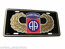 UNITED STATES ARMY 82ND AIRBORNE WINGS LICENSE PLATE 6 X 12
