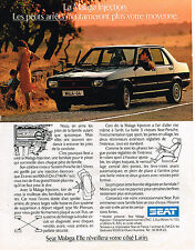 PUBLICITE ADVERTISING 094  1987  SEAT  MALAGA  injection