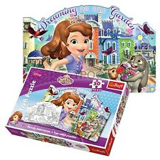 Trefl 30 Piece Maxi Girls Sofia The First Two Sided Colouring Jigsaw Puzzle NEW