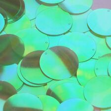 Round Sequin 30mm Lime Green Ultra Crystal Rainbow Iris Iridescent