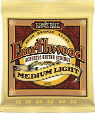 Ernie Ball 2003 Earthwood 80/20 Bronce Guitarra Acústica Cuerdas 12 - 54