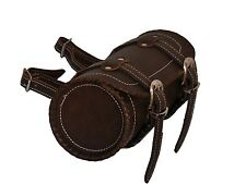 Gallanto Retro Brown Cowhide Motorcycle Leather Tool Bags (Biker Rool Vintage