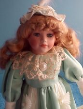 Victorian Doll Dressed In Mint Green Certificate of Authenticity