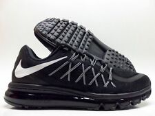 New Nike Air Max 2015 Running Shoes Black/Blacked Out 698902 001 Men's Size 9.5