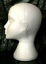 Polystyrene Female White Mannequin Dummy Wigs Hat Cap Head Display Holder Stand
