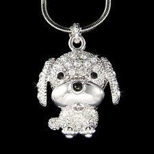 w Swarovski Crystal Saint Bernard English Mastiff Puppy Dog Jewelry Necklace New