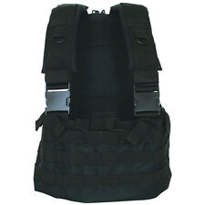 Tactical Military Commando MOLLE Chest Rig Mag Carrier & Hydro Pack   SWAT BLACK