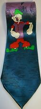 Popeye Ties The Sailor Man Blue Purple Father's Day Gift Mens Neck Ties Novelty