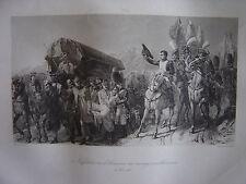 Grande gravure Napoléon Bonaparte rend honneur au courage malheureux  6 Nov 1805