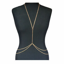 Fashion Body Chain Harness Crossover Belly Waist Bikini Beach Slave Necklace UK
