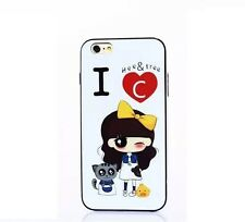 Cute Gril with Kitty iPhone 6 / 6s  Hee & Tree TPU case