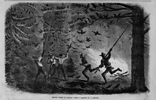 NEGRO SPORTSMEN KILLING CROWS AT NIGHT IN VIRGINIA ROOST BRANCH FIRE CROW NEGRO