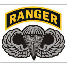 US ARMY RANGER WITH AIRBORNE WINGS STICKER - MADE IN THE USA!!