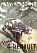 Art Poster - Monte Carlo Rally - Renault 4 - Deco A3 Print