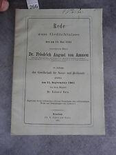Rede Gedächtnisse Auguste von Ammon Zeis Monoyer ophtalmologie optique médecine