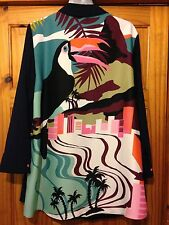 Topshop Long Shirt /Dress With Toucan Design On The Back Brand New With Tags