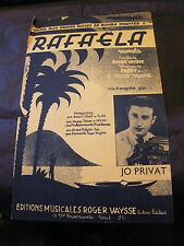 Partition Rafaela Jo Privat 1939 Music Sheet