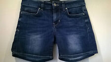 Marks and Spencer stretch blue denim shorts/hot pants Size UK 10
