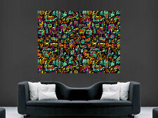 TRIPPY ABSTRACT POSTER PSYCHEDELIC  PRINT IMAGE GIANT LARGE