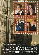 Sierra Leone 2011 MNH Royal Engagement 4v Sheetlet II William Kate Middleton
