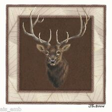 Elk Border HEAT PRESS TRANSFER for T Shirt Sweatshirt Tote Bag Quilt Fabric #233