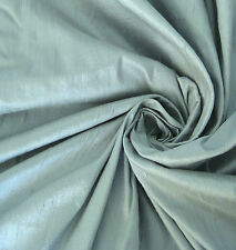 CANAL BLUE/ GREY GRAY BLUE 100% DUPIONI SILK FABRIC YARDAGE Quilt Sew Drapery