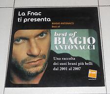 Pannello Pubblicità Fnac BEST OF BIAGIO ANTONACCI - OTTIMO Advertising PROMO