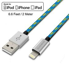 [Apple MFi Certified] Eoso 6.6 Feet/2 M Extra Long Nylon Braided USB Cable wi...