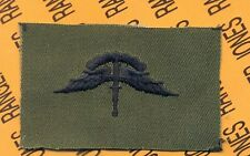 US Army Airborne Military Freefall MFF wing cloth OD Green & Black patch