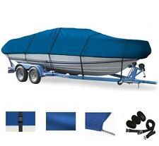 BLUE BOAT COVER FOR CRESTLINER SPORTFISH 1950 O/B W/ SPACE SAVER TRANSOM 2007-15