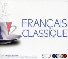 FRENCH CLASSIC 5 CD BOX SET - FRANCAIS CLASSIQUE - EDITH PIAF, TINO ROSSI & MORE