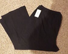 5X 5XL Women Within All American Comfort Plus Size BLACK STRETCH PANTS New NWT