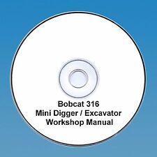 Bobcat 316 Mini Escavatrice Workshop Manuale