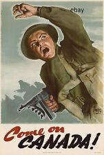 WW2 RECRUITING POSTER CANADIAN ARMY COME ON CANADA NEW A4 PRINT