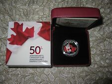 Canada 2015 $3 Fine Silver coin 50th Anniversary of the Canadian flag