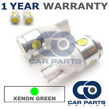 2X GREEN W5W 501 SIDELIGHT NUMBER PLATE INTERIOR REPEATER 3 SMD LED BULBS