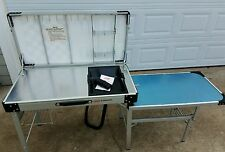 Vintage Coleman Exponent Camp Kitchen Sink Stove Table & Storage Food Prep