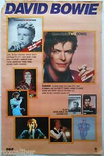 DAVID BOWIE Changes Two Bowie Rare Original Official USA Record Company POSTER