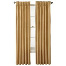 Royal Velvet Supreme Pinch-Pleat/Back-Tab Lined Curtain 25x84in Soft Gold A11
