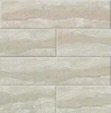 "GRIS TRAVERINE Classic Subway Backsplash Tile Ceramic 4"" X 16"" KITCHEN BATHROOM"