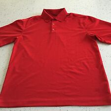 Men's Nike Polo Golf Shirt Size Large Red Dri Fit
